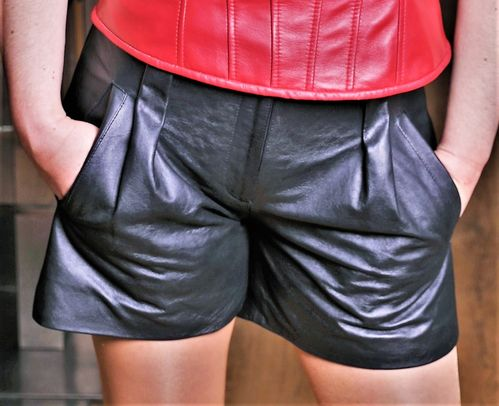 Leder-Short in ECHT-LEDER Leder-Hot-Pants