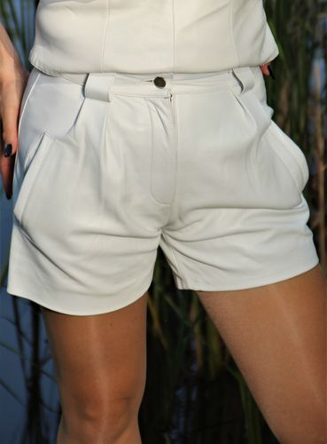 Leder-Short Hot Pants in ECHT-LEDER ELEGANTER Style
