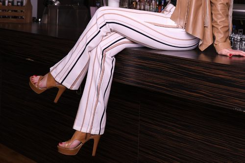 Summer Pants With Stripes