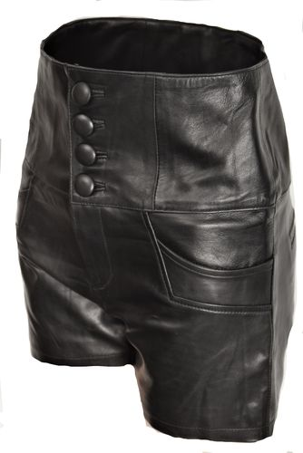Leder-Short in ECHT-LEDER Hot-Pants