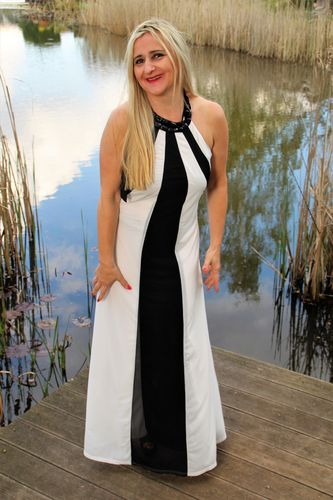 Summer Dress in colours black-white
