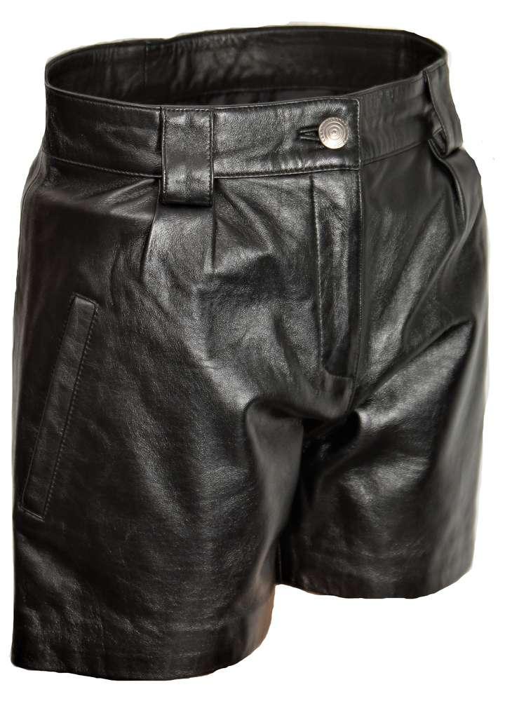 03c7c0084cddba Pantaloni corti in pelle in elegante stile ELEGANTE - BE NOBLE