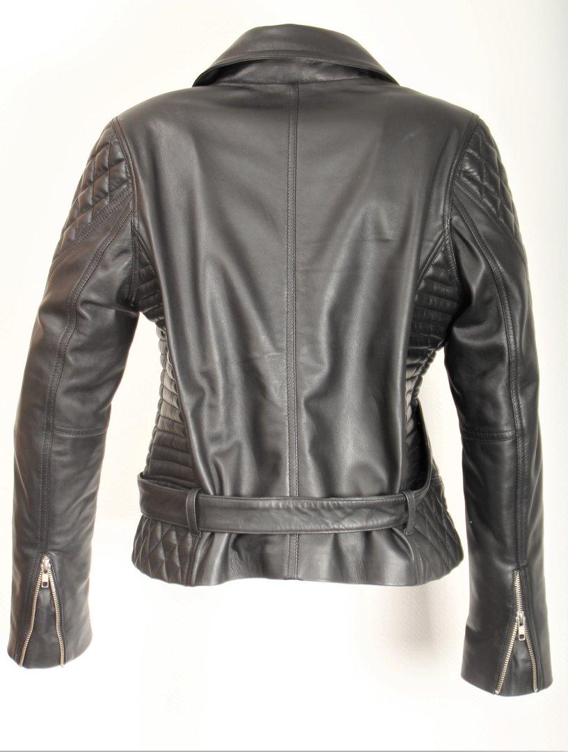 buy popular 723fe feb85 Lederjacke Bikerjacke aus ECHT-LEDER mit Gürtel