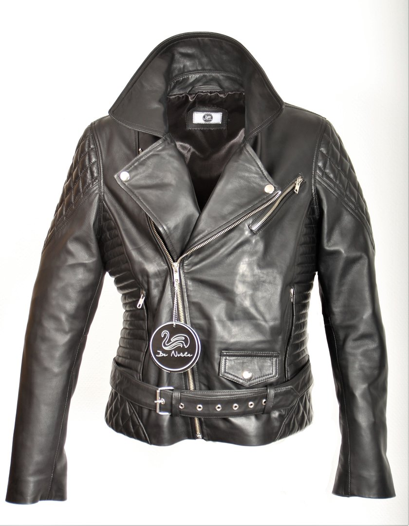 Leather Biker Jacket made of GENUINE LEATHER