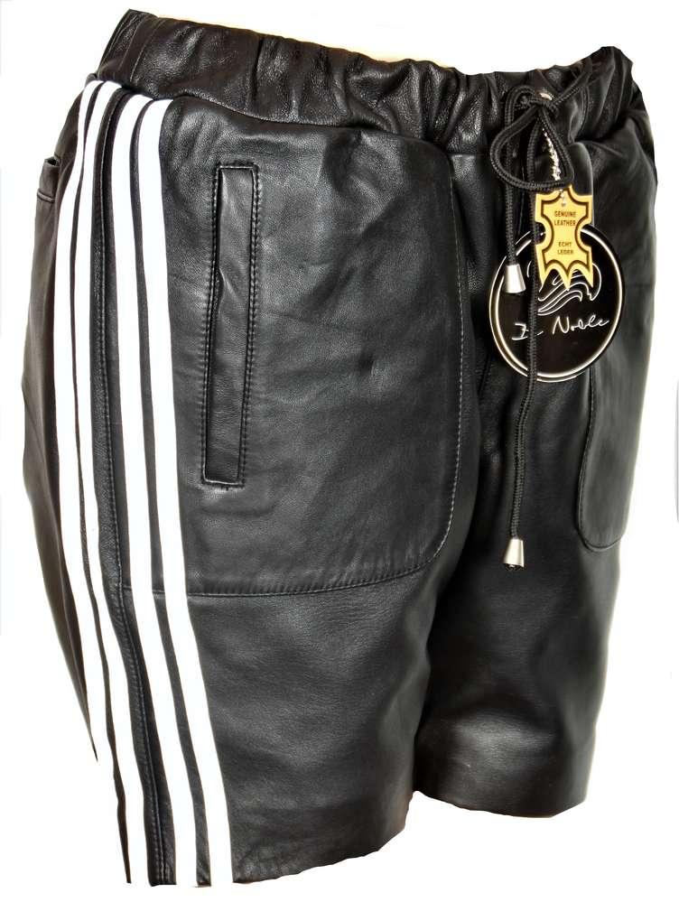 Leder-Short Sporthose aus ECHT-Leder in schwarz - BE NOBLE 6ff7b013e2