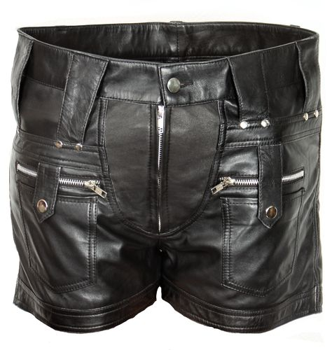 Leather short in GENUINE LEATHER for cool BOYS