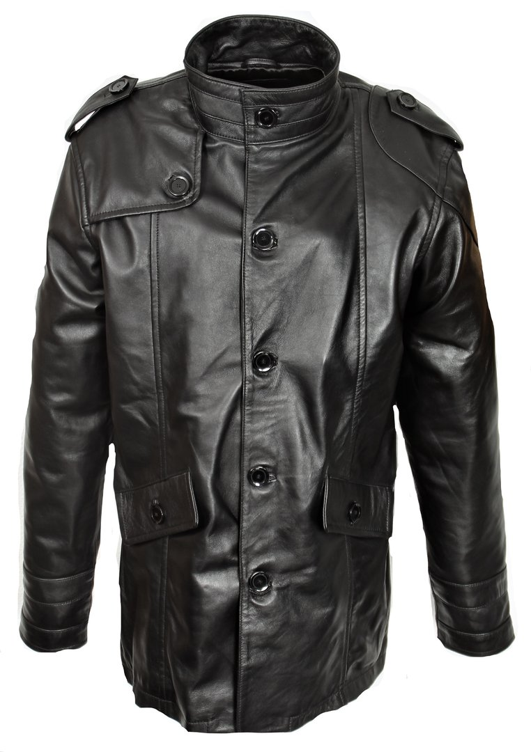 Short Coat in super soft GENUINE LEATHER