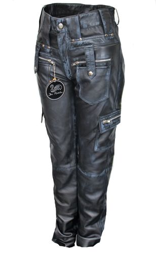 LEATHER Cargo Style trouser - Genuine Leather USED LOOK