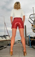 LEATHER SHORTS - HOT PANTS