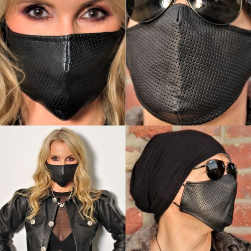 FACE MASK made of GENUINE LEATHER